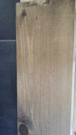 Minwax Dark Walnut And Weathered Oak Stains On Pine Perfect Mix For