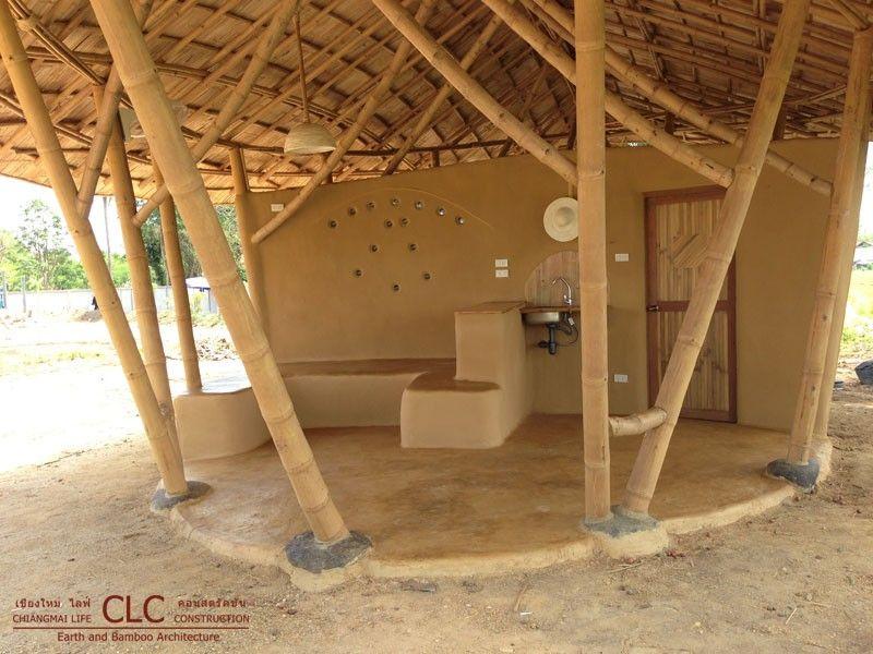 Garden Hut Dengan Gambar Bambu Rumah