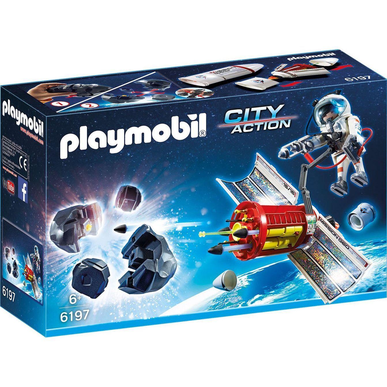 playmobil 6197 kids 6+ city action satellite meteoroid laser with, Wohnzimmer dekoo