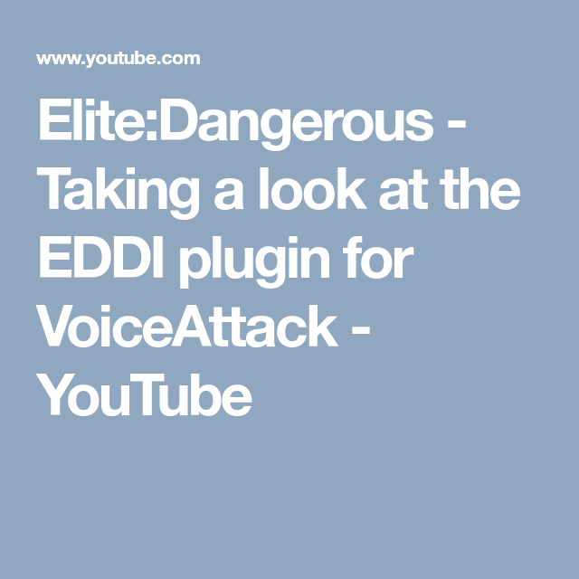 Elite:Dangerous - Taking a look at the EDDI plugin for