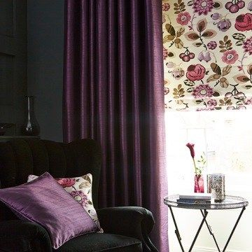Shiny Purple Curtain Erika Dark Plum Living Room  Dark Purple Curtains