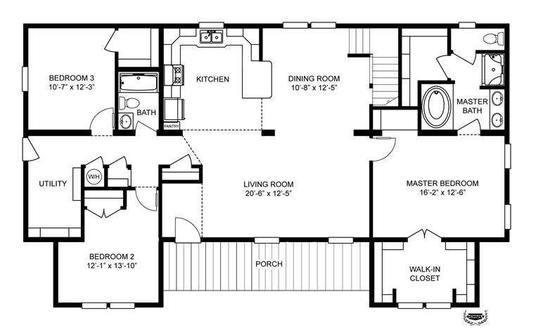 Interactive Floorplan 3852 67x28 Ck3 2 Oakwood Mod 58bui28673am Oakwood Homes Of Shelby Shelby Nc Modular Floor Plans Floor Plans House Floor Plans