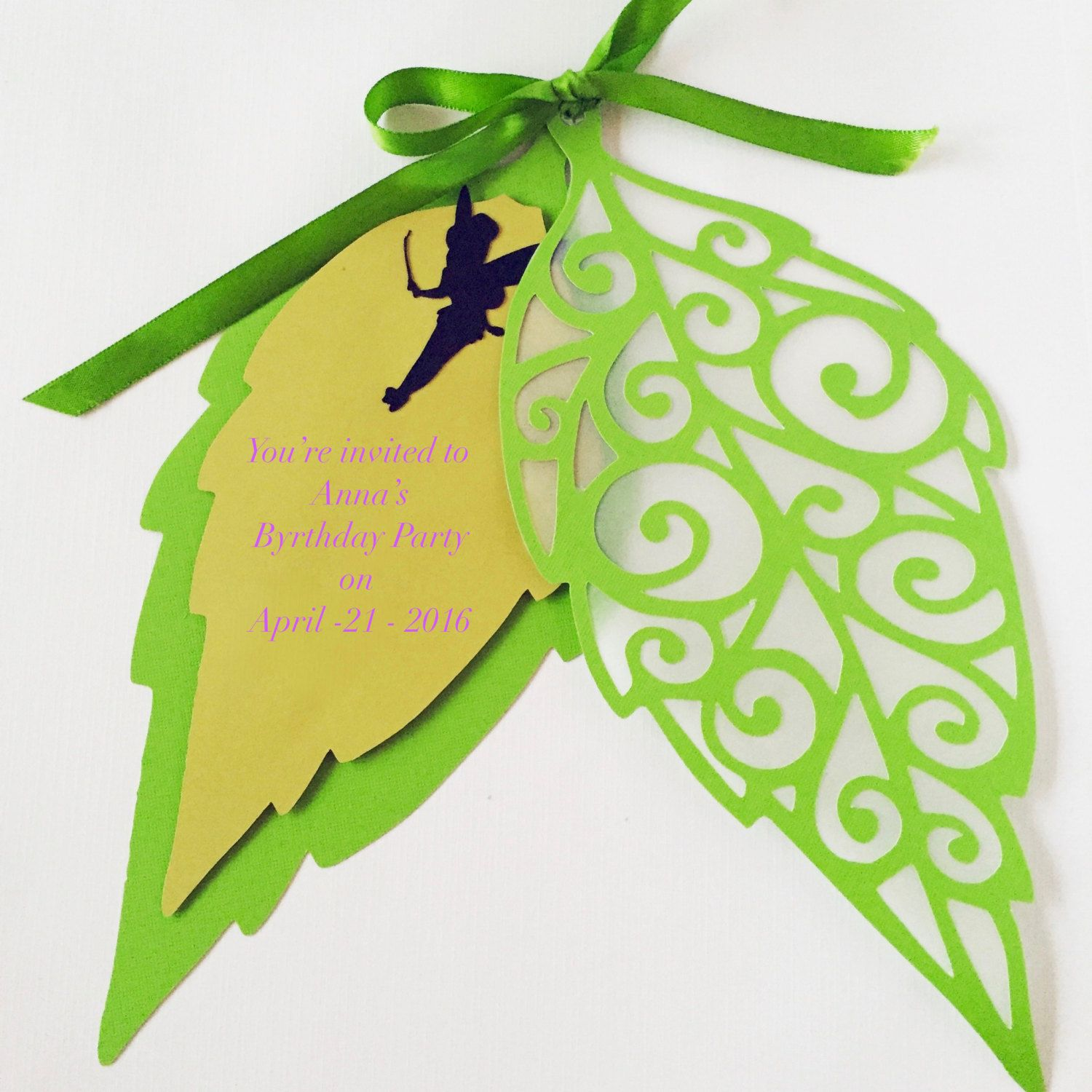 Leaf Tinkerbell Invitation Party