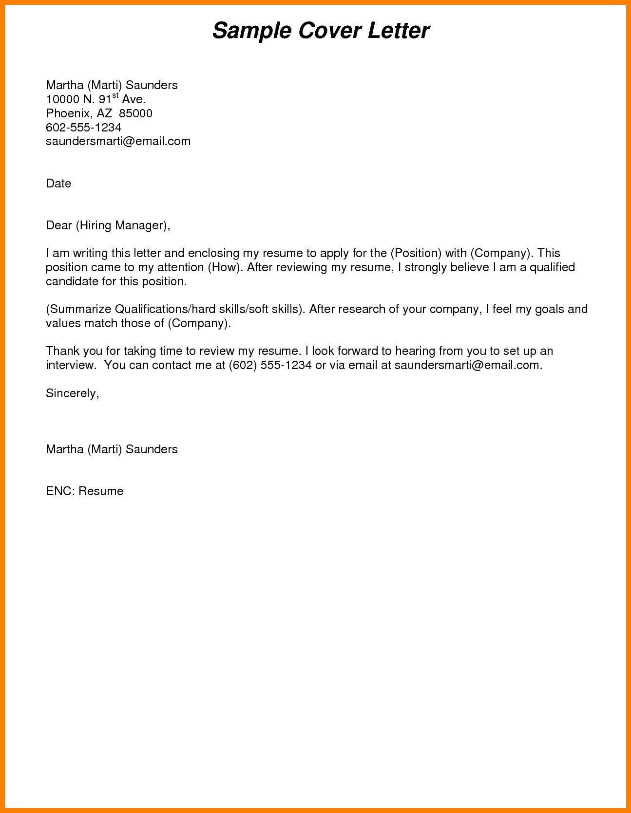 Sample Cover Letter For Resume Pdf Summary For Resume