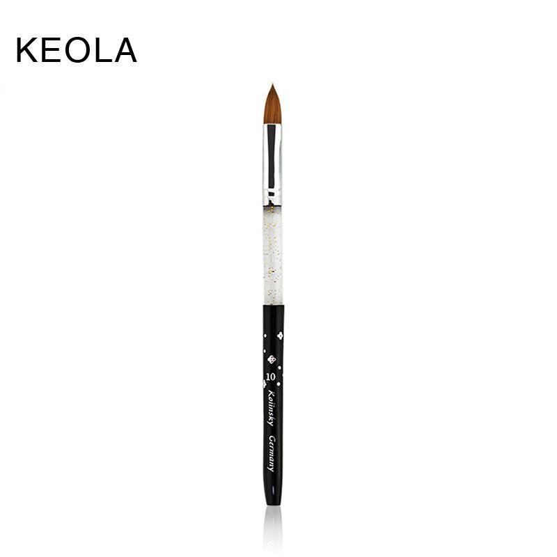KEOLA 10# Black 5pcs/set 100% Kolinsky Sable Brush Professional Nail ...
