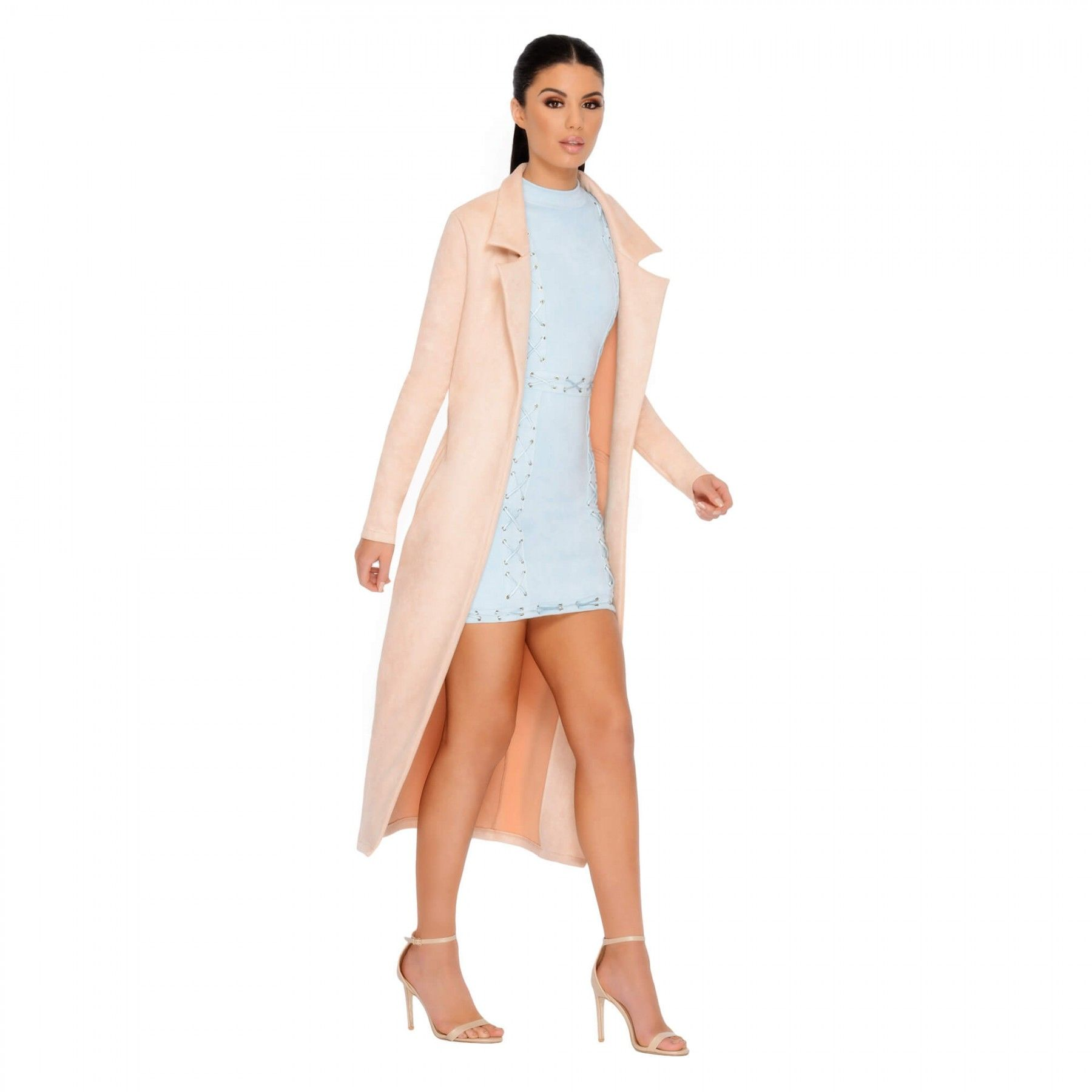 358021b5ad4 Oh Polly Coats & Jackets | Long Faux Suede Coat | Oh polly | Suede ...