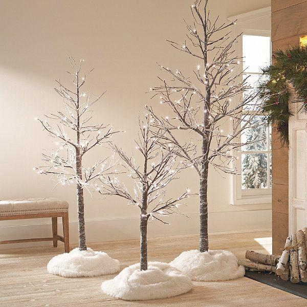 Led Twig Tree With Snow Grandin Road Twig Tree Twig Christmas Tree White Twig Tree