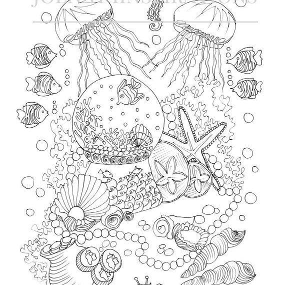 Adult Coloring Book, Printable Coloring Pages, Coloring Pages - copy coloring page of a tiger shark