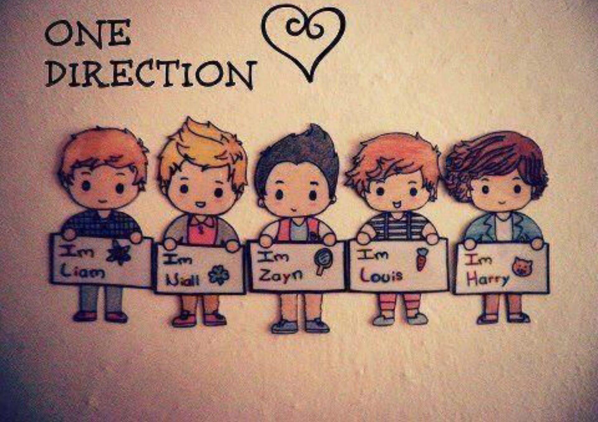 Pin Van Mel 12 Op O N E D I R E C T I O N One Direction Wallpaper Tekenen One Direction