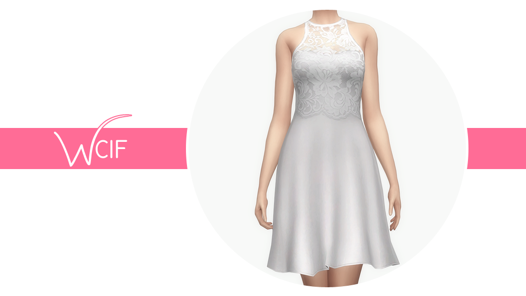 armadillosinourtrousers said: WCIF the shirt you used for your Anto Glaze retexture? Answer: • Lace Overlay Flare Dress by @nygirlsims