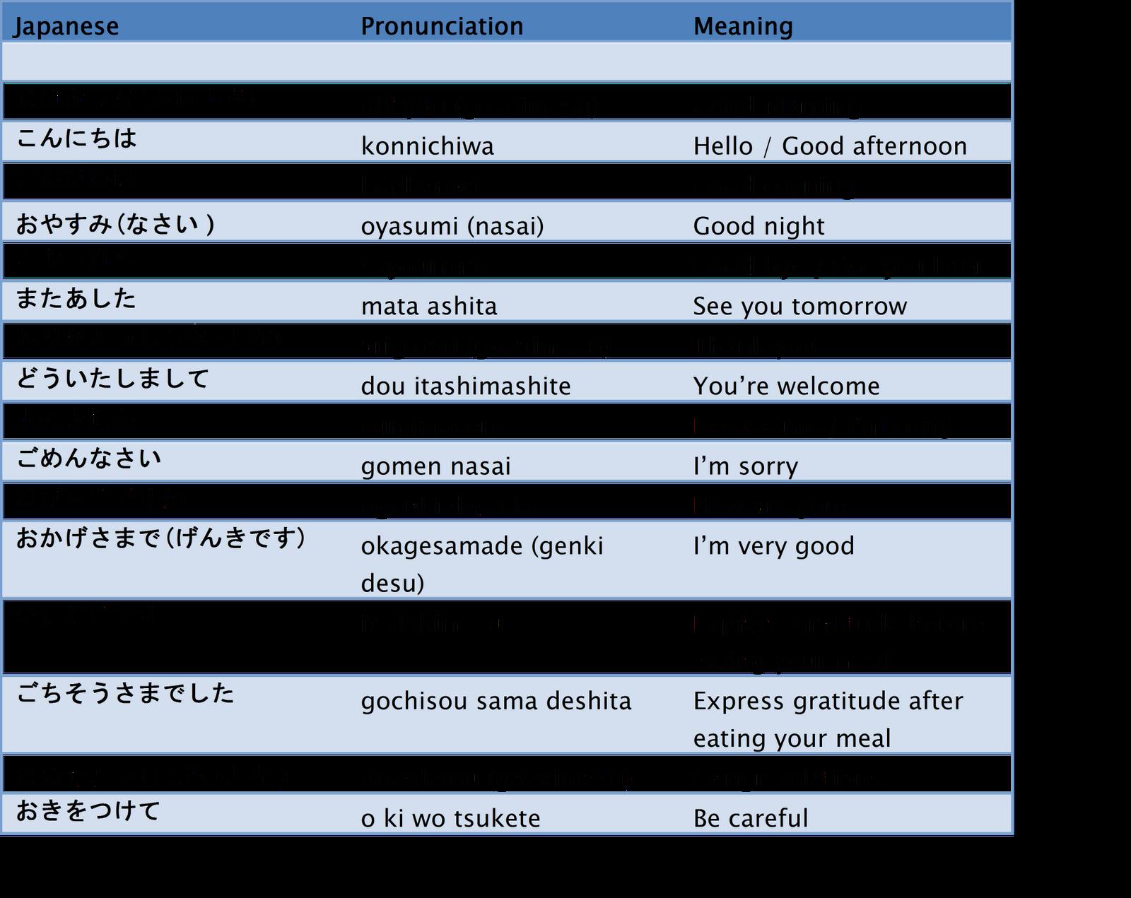 Basic Japanese