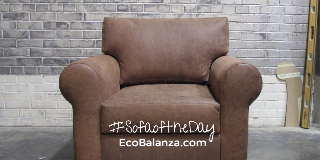 It's not really a sofa, but this #SofaoftheDay choice reminds us of a teddy bear. The leather texture is just so cozy and inviting!