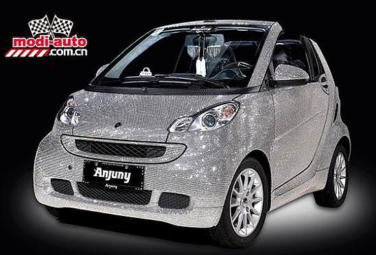Sparkly smart car!