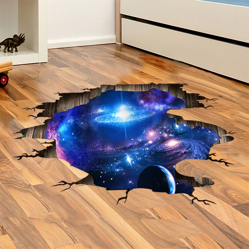the milky way universe 3d wall sticker creative floor stickers diy