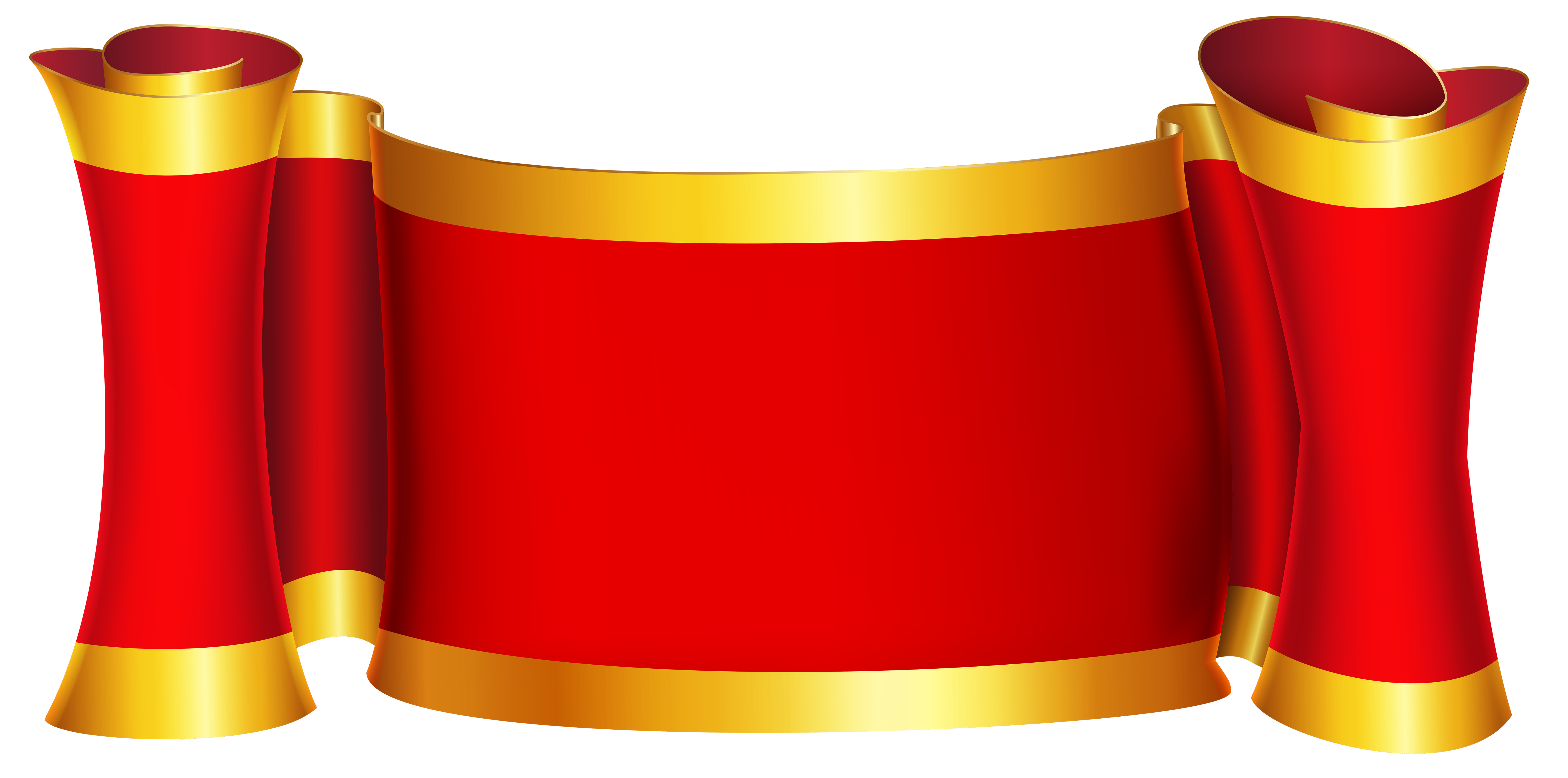 Red Gold Banner Png Clip Art Image Gold Banner Free Clip Art Clip Art