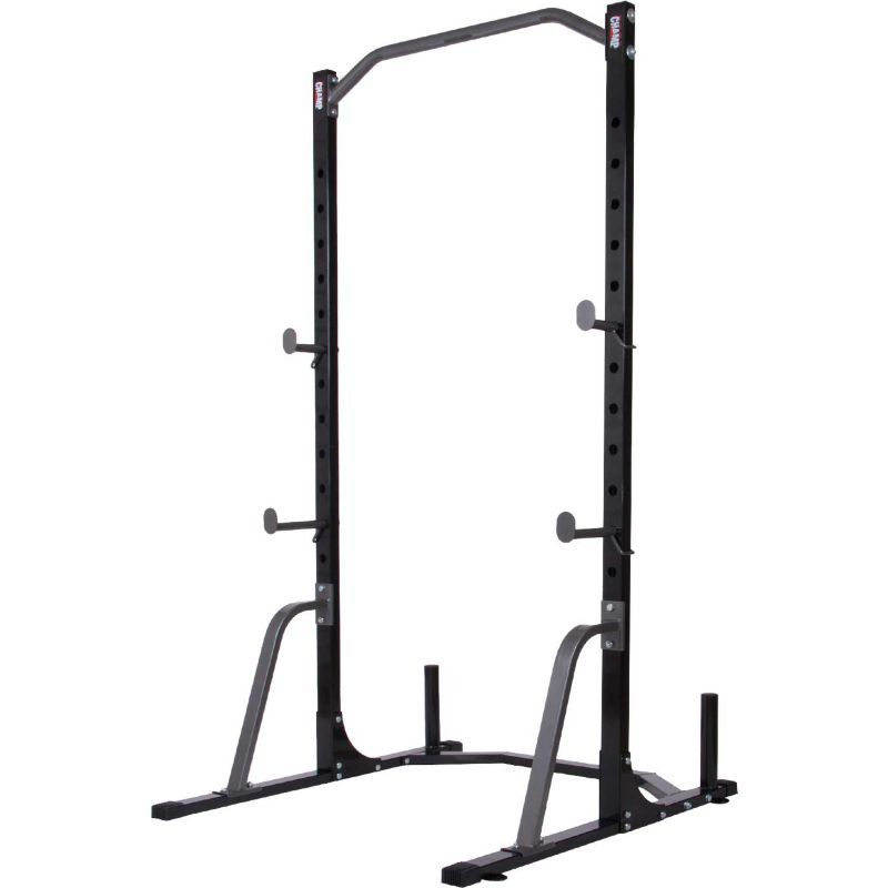 Body Champ Power Rack System Plate Storage Olympic Weights No Equipment Workout