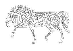 Pferdemandala Welches Schritt Geht Von Rechts Nach Links Ausmalbilder Pferde Mandala Pferd Mandalas Zum Ausdrucken