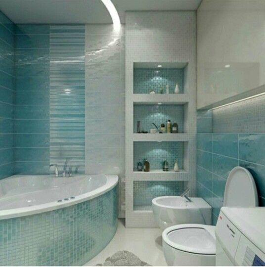 تجويف جداري مستحدث لون فيروزي بارد وجميل Chic Kitchen Decor Bathroom Interior Door Gate Design