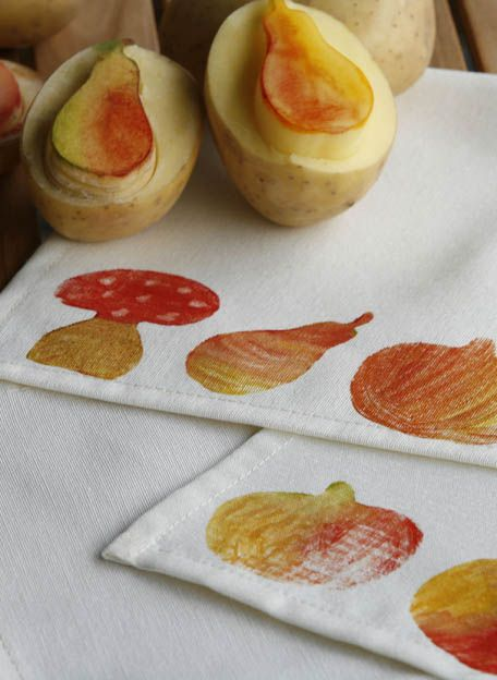 Herbstlicher kartoffeldruck kreativ ideen pinterest for Pinterest kreativ ideen