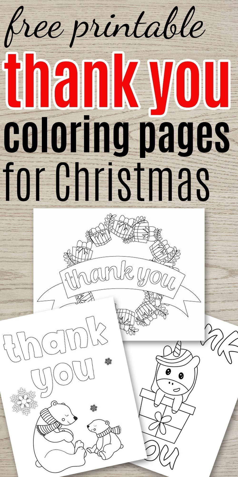 Free Printable Thank Yous For Christmas Printable Thank You Cards Christmas Coloring Pages Printable Coloring Pages