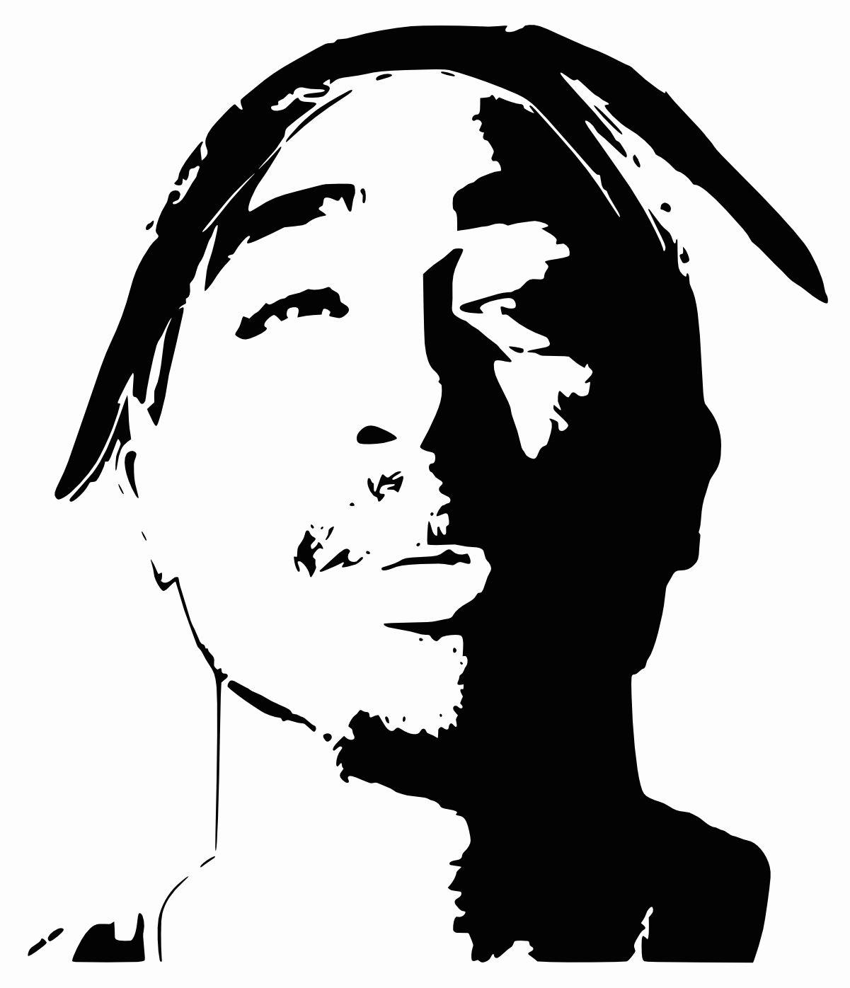 Tupac Shakur 2pac Silhouette Art Airbrush Art Art