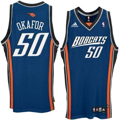 d652b7ea Emeka Okafor Road 2nd Jersey, Adidas Charlotte Bobcats #50 Swingman Blue  NBA Jersey