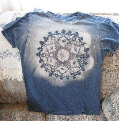 doily or lace with a bleach shirt    project ideas   Bleach shirts ... 47674971c3