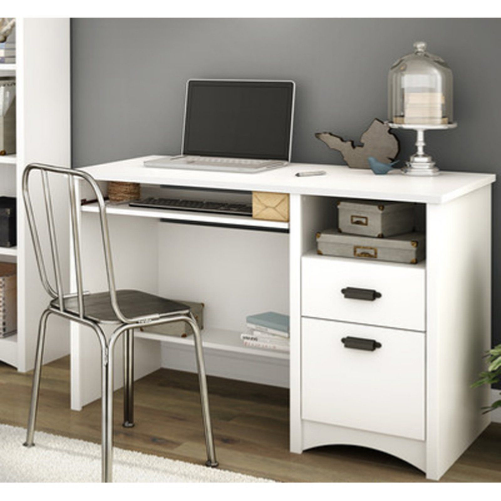 Gascony Computer Desk With Keyboard Tray By South Shore Desk With Keyboard Tray Desk Best Desk