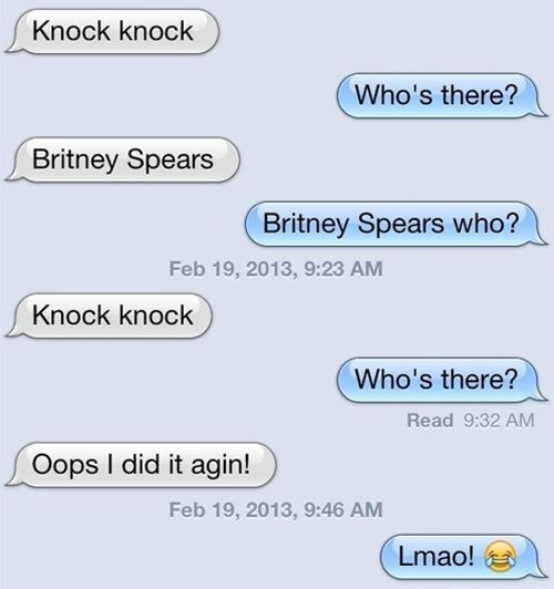 The Worst Knock Knock Joke Ever Funny Puns Jokes Funny Texts Jokes Funny Knock Knock Jokes