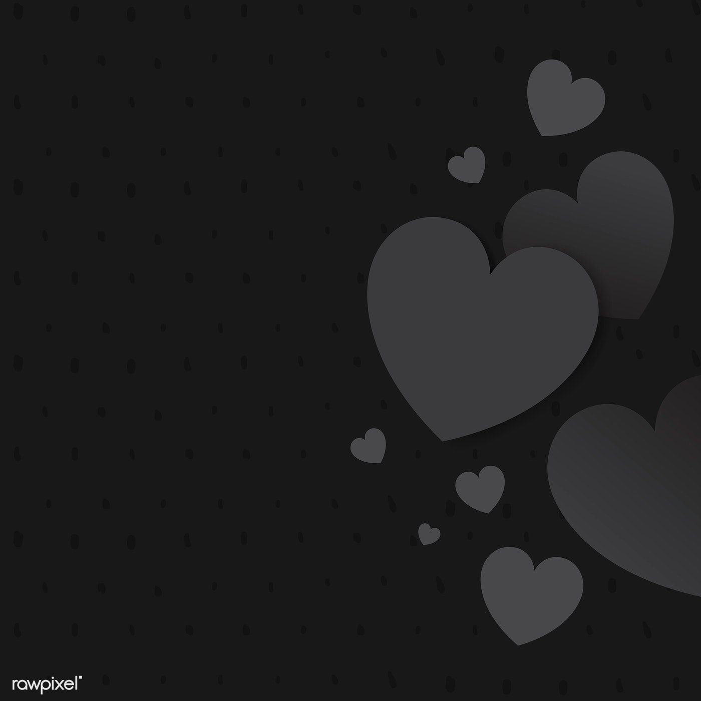 Gray Hearts Background Design Vector Free Image By Rawpixel Com