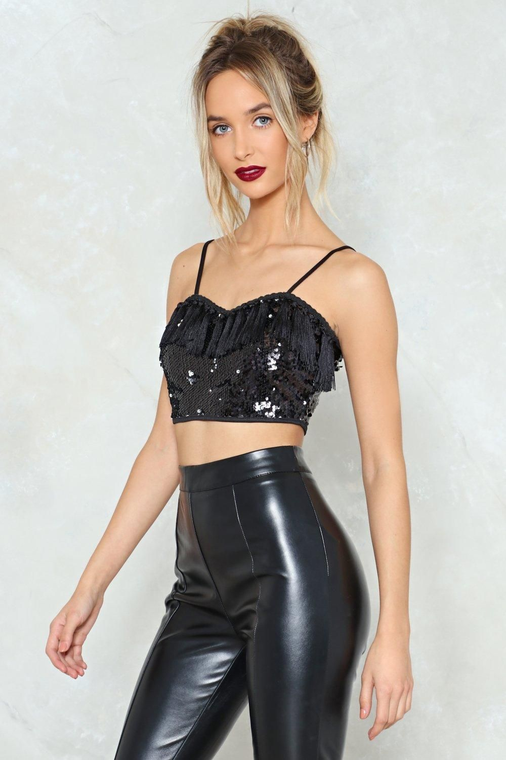 913fbe1470eb98 Young Hearts Run Free Sequin Crop Top in 2019