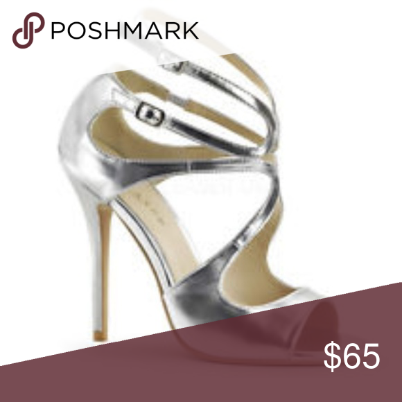 "PLEASER Sexy Swirl Cutout 5"" Stiletto High Heels 8 Runs small (7.5) Worn 1x 5"" heels  DESCRIPTION   5"" High Heel Open Toe Strappy Swirl Cutout Shoes with Adjustable Ankle Strap.  Similar to the popular Jimmy Choo style Pleaser Shoes Heels"