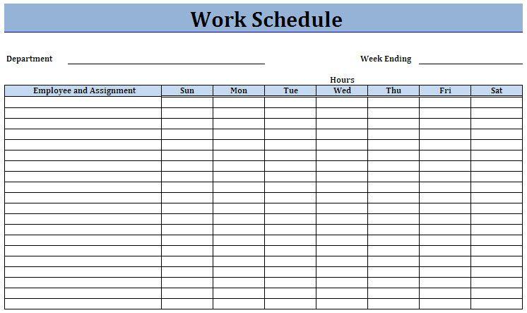 Free Work Schedule Template Schedule Template Schedule