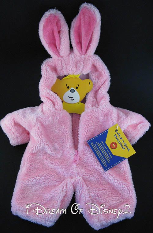BUILD-A-BEAR NEW PLUSH PINK BUNNY RABBIT SUIT COSTUME ...