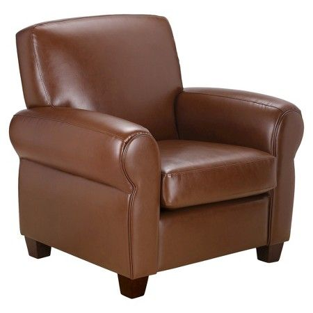 Delicieux Cigar Arm Club Chair Leather   Threshold™ : Target