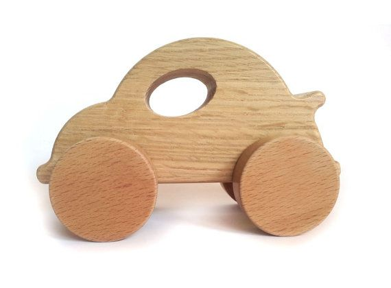 Wooden Toys for toddlers,Natural and Eco-friendly Toy Car,Waldorf ideal first gift for baby or toddler birthday