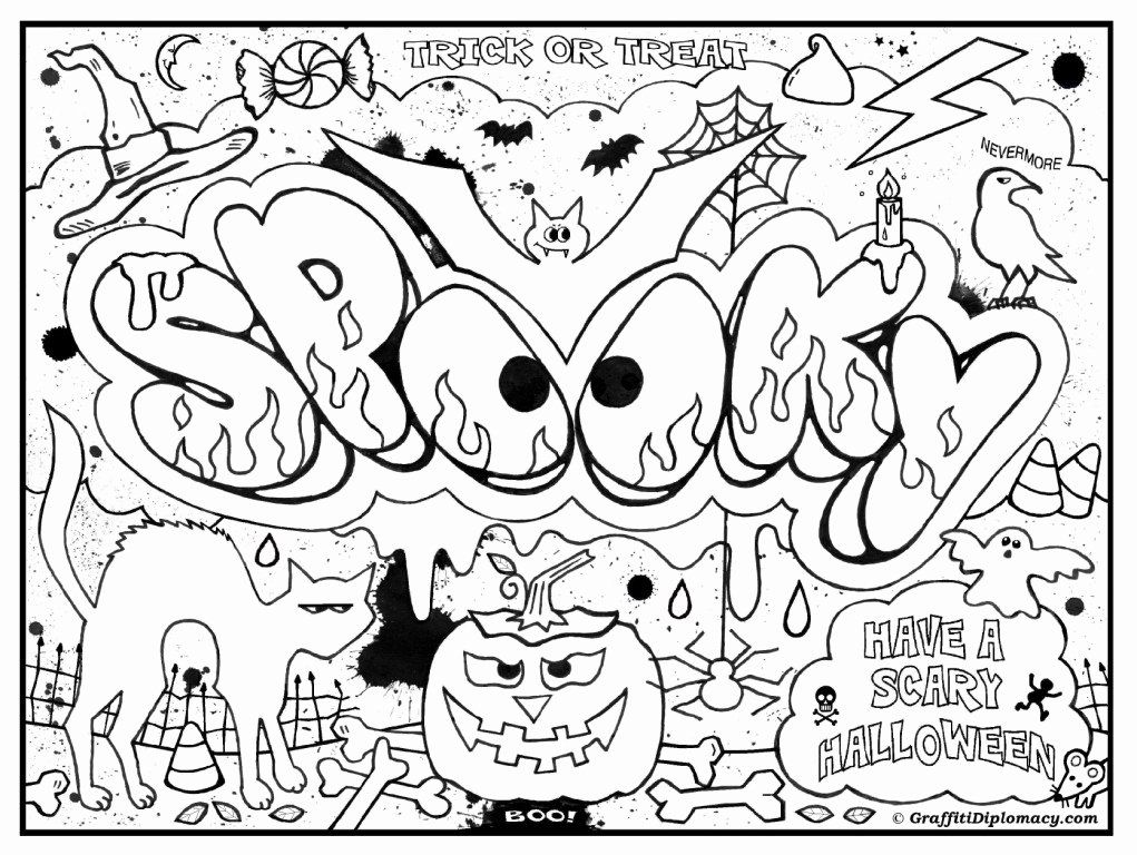 Science Coloring Pages Pdf Luxury Graffiti Diplomacy Store Halloween Coloring Halloween Coloring Pages Coloring Pages For Teenagers