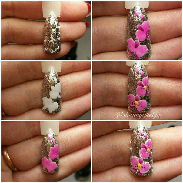 Наращивание ногтей гелем в г.Истра | Ногти, Цветочные ...