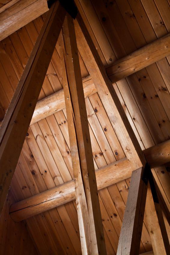 Light Walnut On Pine Prefinished Wood Ceiling Planks
