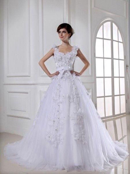 Hochzeits+Weiß+Ballkleid+Tüll+Brautkleider+von+OkayAngel+auf+DaWanda ...