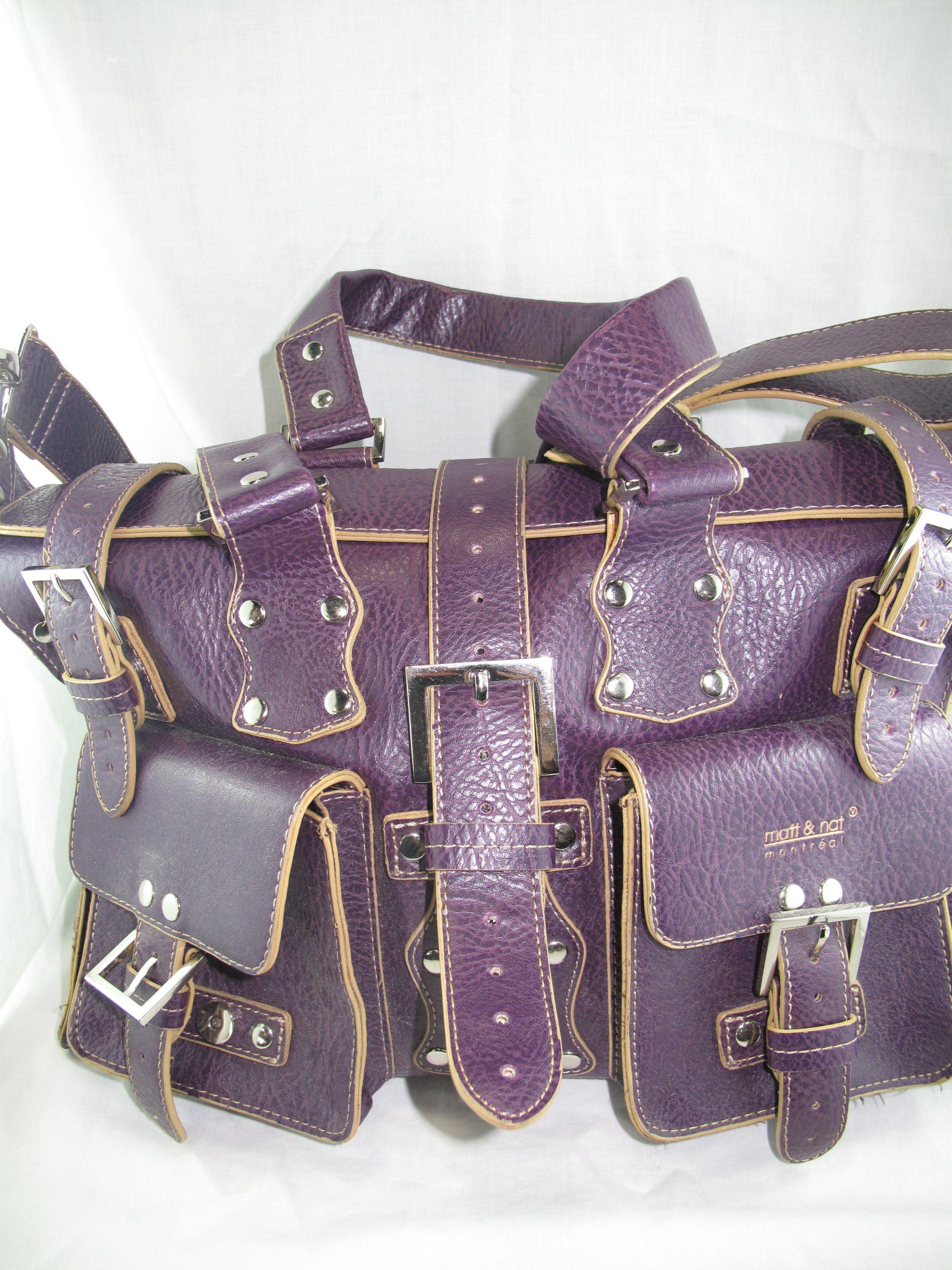 aa054fca69b8 Matt   Nat purple handbag Burberry Bags