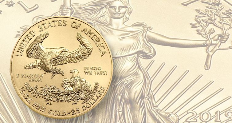 2019 American Eagle Half Ounce Gold Bullion Coin Mintage Second Lowest In 2020 Gold Bullion Gold Eagle Coins Gold American Eagle