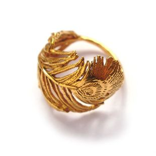 gorgeous feather ring