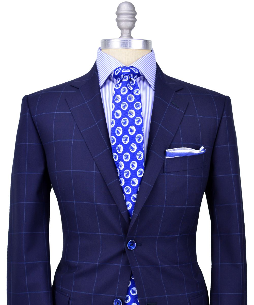 Very classy and original pairing; navy blue sport coat/light blue ...