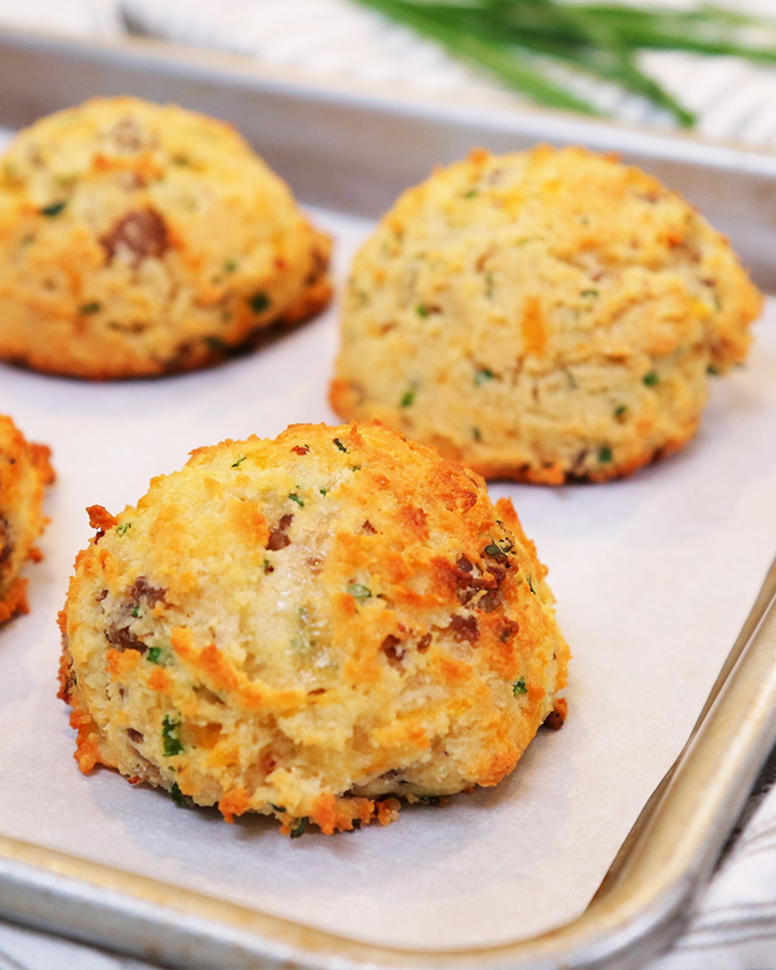 low carb sausage cheddar chive breakfast biscuits recipe breakfast breakfast biscuits delicious bread low carb sausage cheddar chive breakfast biscuits