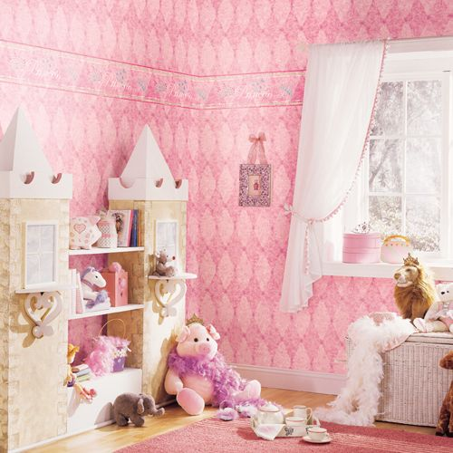 Princess Bedroom Wall Paper And Border By Candice Olson