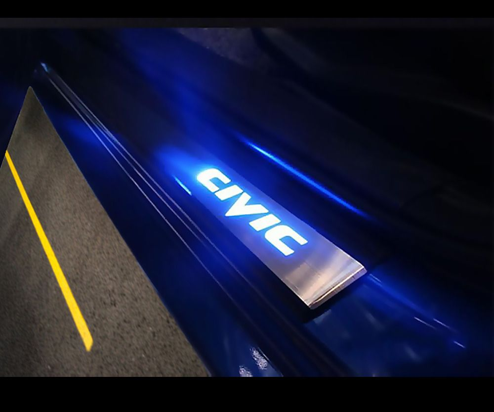 Get Rid Off Those Boring Door Sills For These Stainless Steel Led Civic Door Sills Install Takes Less Than 10 Minutes With Honda Civic Civic Honda Civic Hatch
