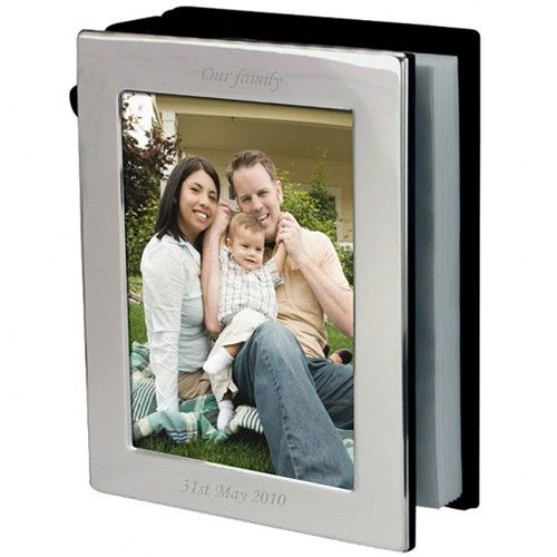 Engraved Silver Plated Photo Frame Album  from Personalised Gifts Shop - ONLY £19.95