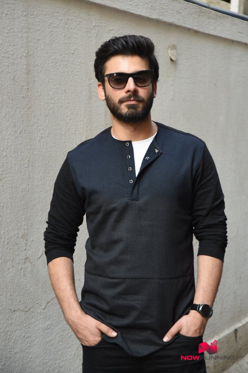 fawad khan is all style in blazer, t-shirt and jeans for kns photo