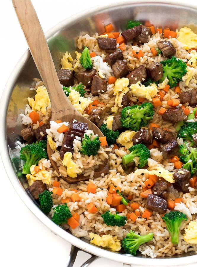 Easy Beef Fried Rice #beefandrice